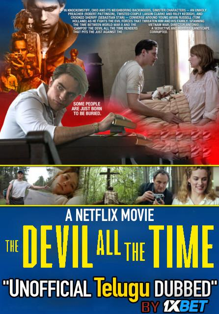The Devil All the Time (2020) Telugu Dubbed (Unofficial) & English [Dual Audio] WEB-DL 720p [1XBET]