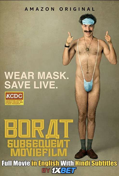 Download Borat Subsequent Moviefilm (2020) Web-DL 720p HD Full Movie [In English] With Hindi Subtitles FREE on 1XCinema.com & KatMovieHD.ch