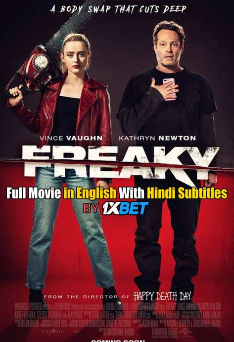 Download Freaky (2020) 720p HD [In English] Full Movie With Hindi Subtitles FREE on 1XCinema.com & KatMovieHD.io