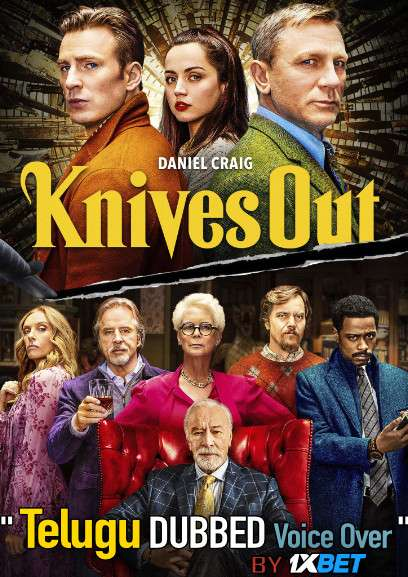 Knives Out (2019) Telugu Dubbed (Voice Over) & English [Dual Audio] BDRip 720p [1XBET]