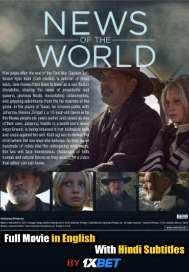 Download News of the World (2020) HDCAM 720p Full Movie [In English] With Hindi Subtitles FREE on 1XCinema.com & KatMovieHD.io