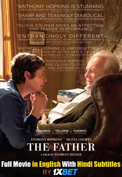 Download The Father (2020) HDCAM 720p Full Movie [In English] With Hindi Subtitles FREE on 1XCinema.com & KatMovieHD.io