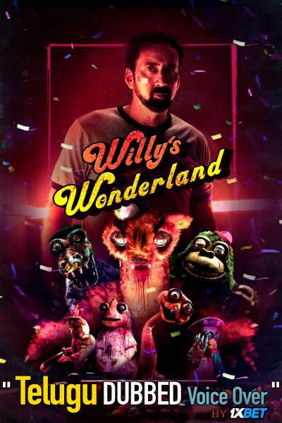 Willy's Wonderland (2021) Telugu Dubbed (Voice Over) & English [Dual Audio] WebRip 720p [1XBET]