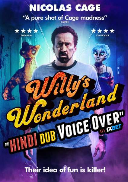 Willys Wonderland (2021) WebRip 720p Dual Audio [Hindi (Voice Over) Dubbed + English] [Full Movie]