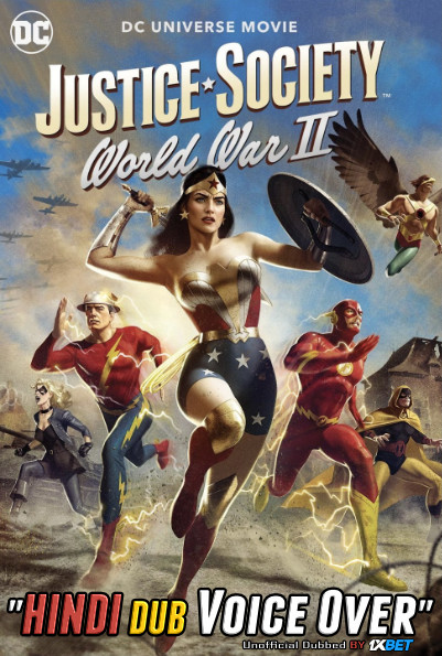 Justice Society World War II (2021) WebRip 720p Dual Audio [Hindi (Voice Over) Dubbed + English] [Full Movie]