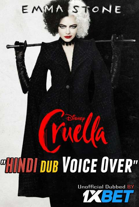 Cruella (2021) Hindi (Voice Over) Dubbed+ English [Dual Audio] WEB-DL 720p [1XBET]