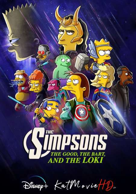 The Simpsons: The Good, the Bart, and the Loki (2021) [In English] Web-DL 720p HEVC 10Bit [Short Film]